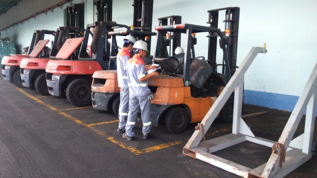 Thiết bị cảnh báo tốc độ xe nâng tại nhà máy Yara Việt Nam